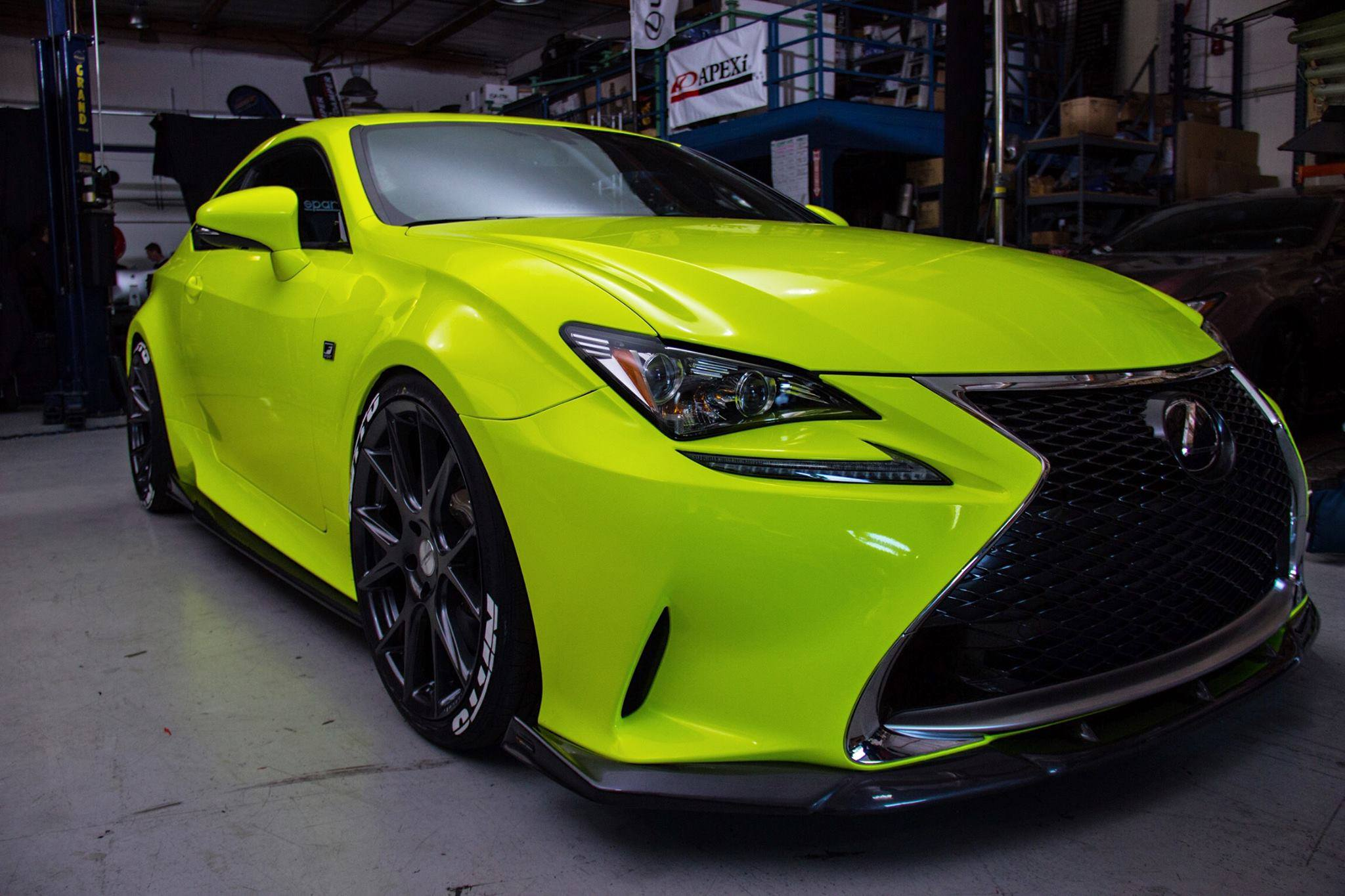 Captivating Lexus RC F SPORT In Yellow Fluorescent U2013 ORAFOL Vehicle Wraps U2013 Premium  Wrapping Casts